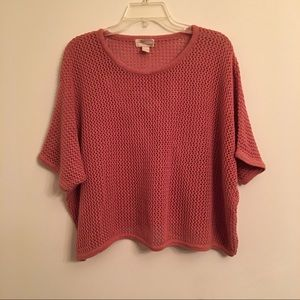 FOREVER 21 New Mauve Crop Top Cover Up